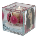 Pink Rose Foto Candle