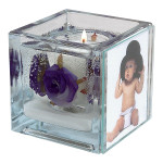 Purple Rose Foto Candle