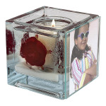 Red Rose Foto Candle